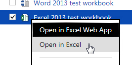 Opening an Excel workbook