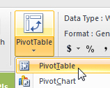 Create pivot table icon