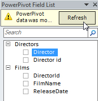 Refreshing pivot table field list
