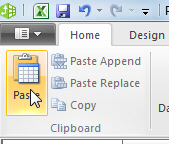 PowerPivot paste icon