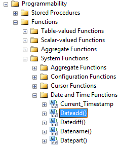 Built-in SQL functions