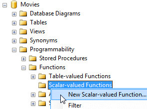 The Scalar-valued functions folder