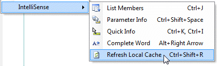 Refresh IntelliSense