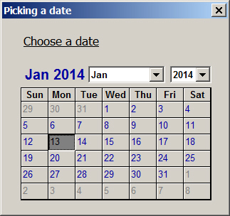 Using the Excel Calendar Control from Excel 2010 onwards