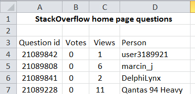 StackOverflow home page