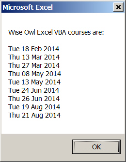 List of Wise Owl course dates