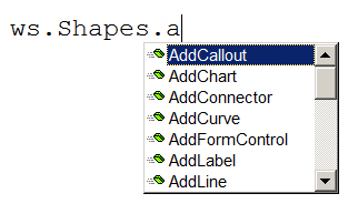 Some shape commands