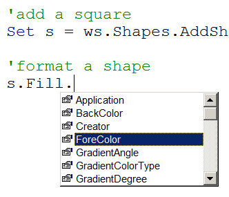 Excel Vba Shape Colour - change the color of a shape border or entire ...