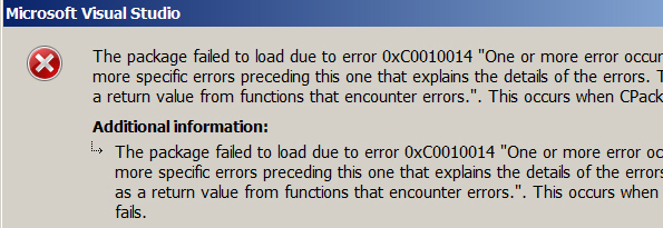 Error message importing package