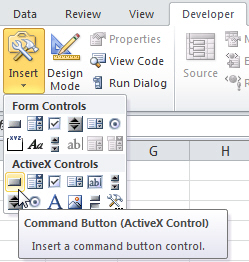 ActiveX Command Button