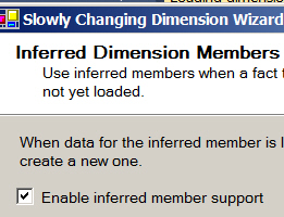 Inferred member tick box