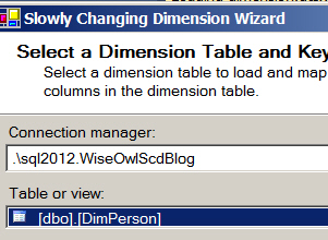 Choose the SCD table