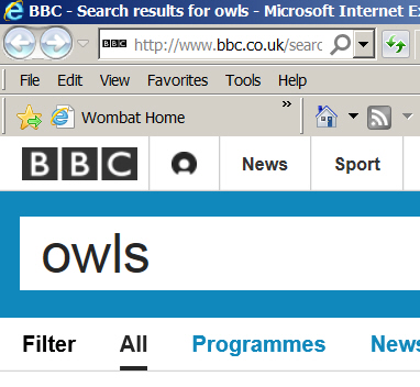 Searching BBC site