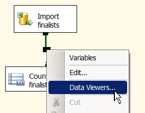 Setting a data viewer