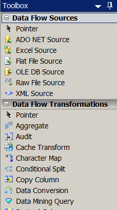 2008 R2 data flow tasks
