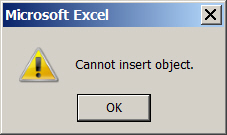 Cannot insert object