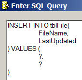 INSERT statement SQL