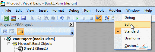 The Edit toolbar