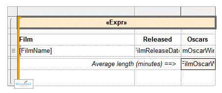 Example of report in SSRS