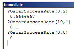 Access VBA Macros exercise - Creating functions (image 1)