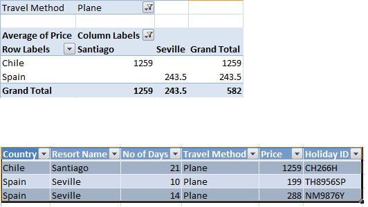 Excel 2010 exercise - Pivot tables (image 2)