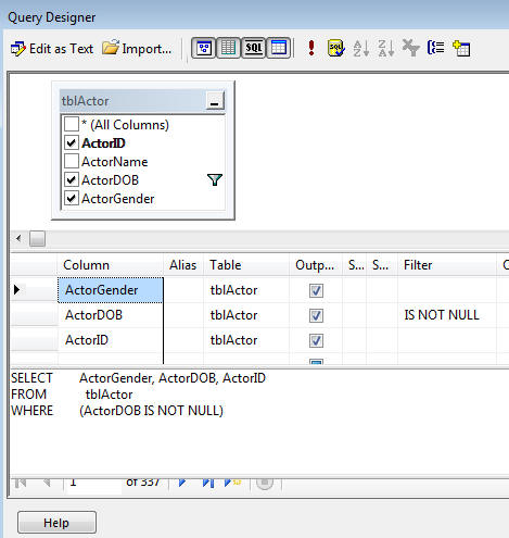 SQL Server Reporting Services 2008 R2 exercise - Matrices (image 1)