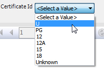 Certificate dropdown