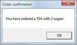 Order with sugars too