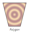 Polygon with radial gradient