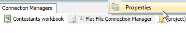 Flat file connection manager