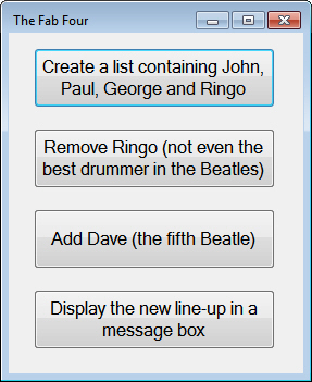 The Beatles buttons