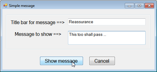 Message form