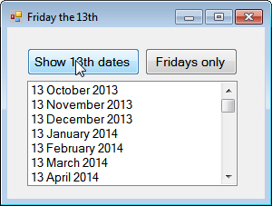 List of 13th dates
