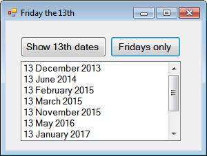 List of Friday 13th dates
