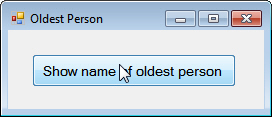 Form to show oldest person
