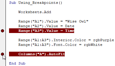 Multi breakpoints